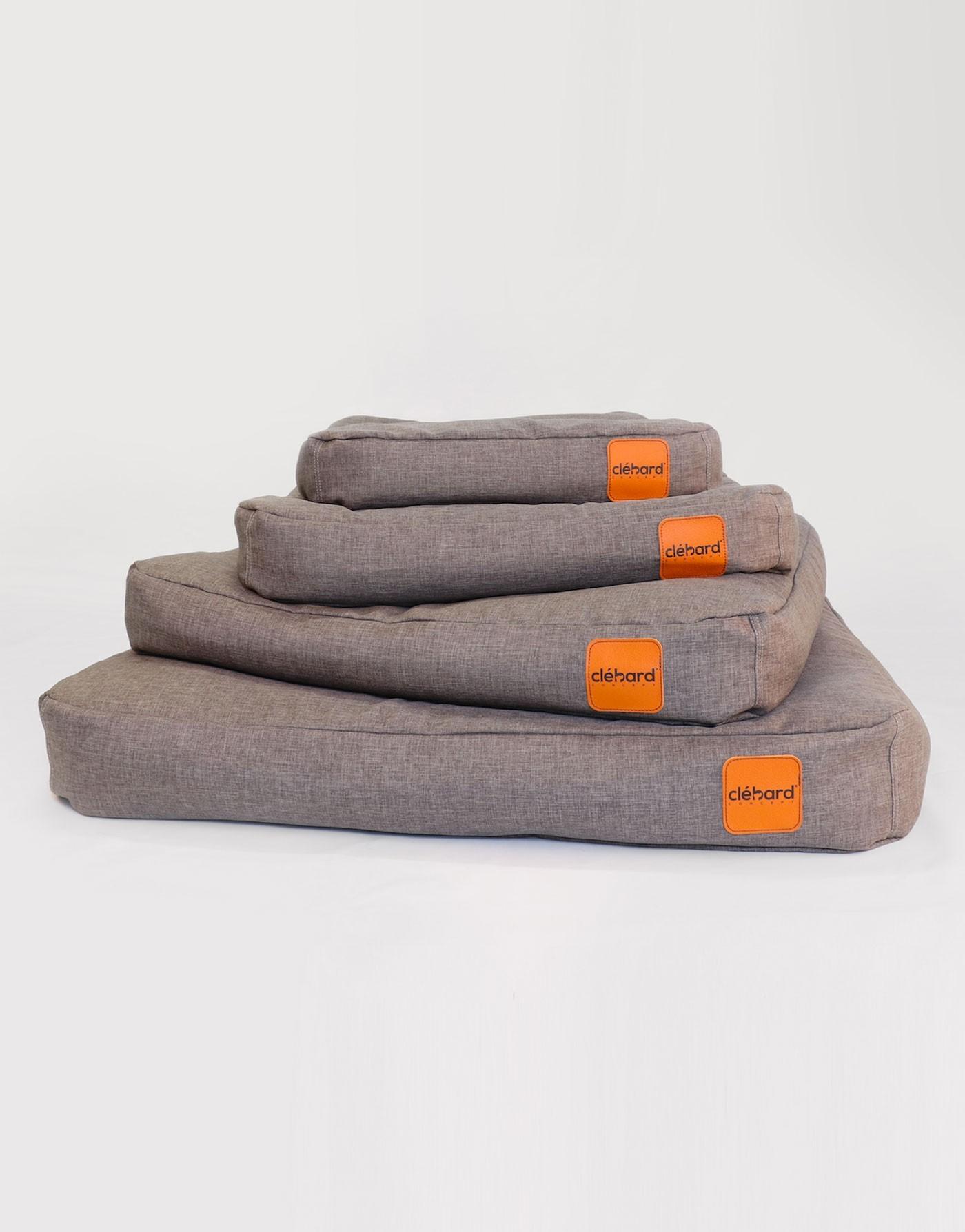 Elegant Dog's Cushion - Linen - Medium Grey
