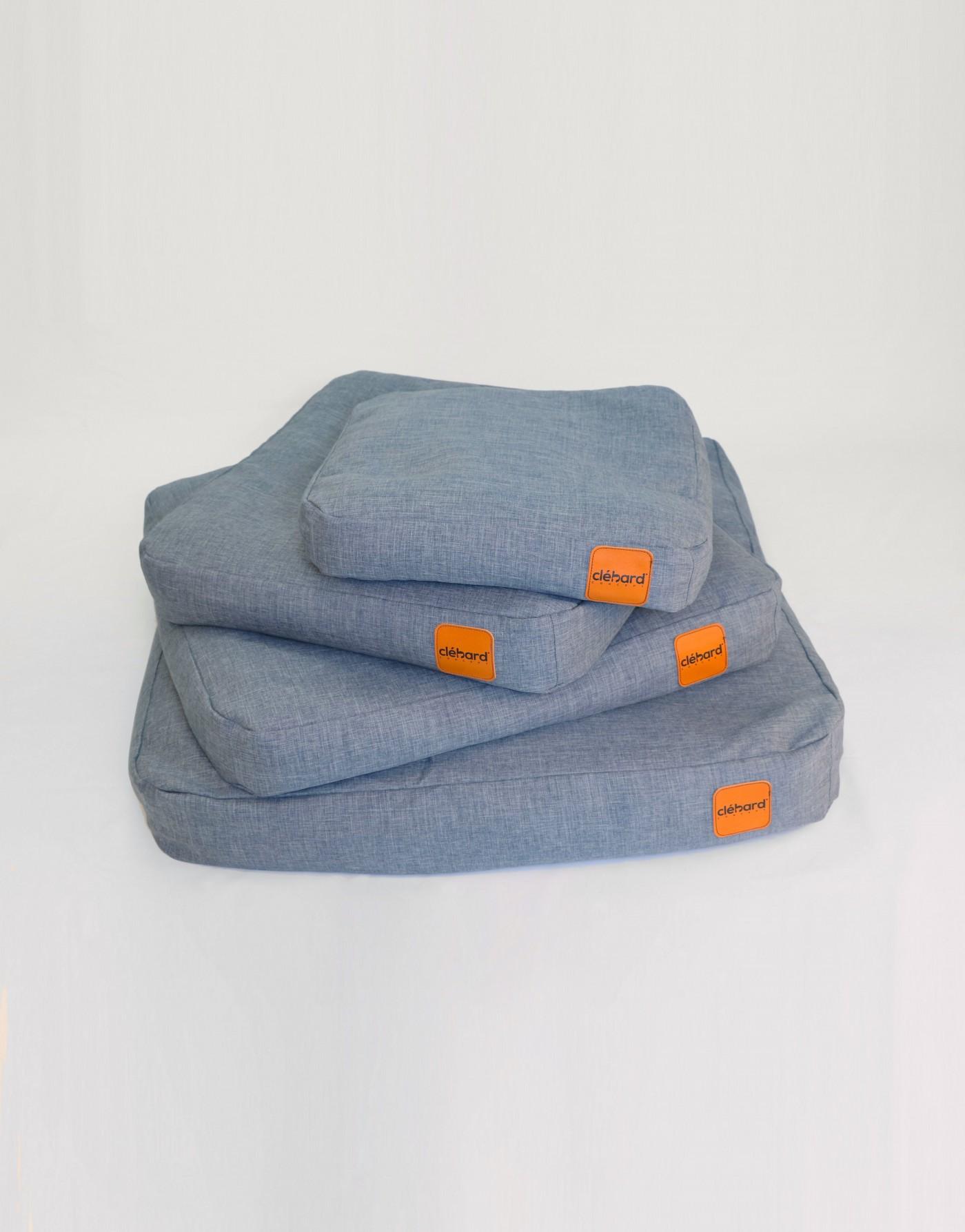 Coussin pour chien élégant - Linen - Light Jeans