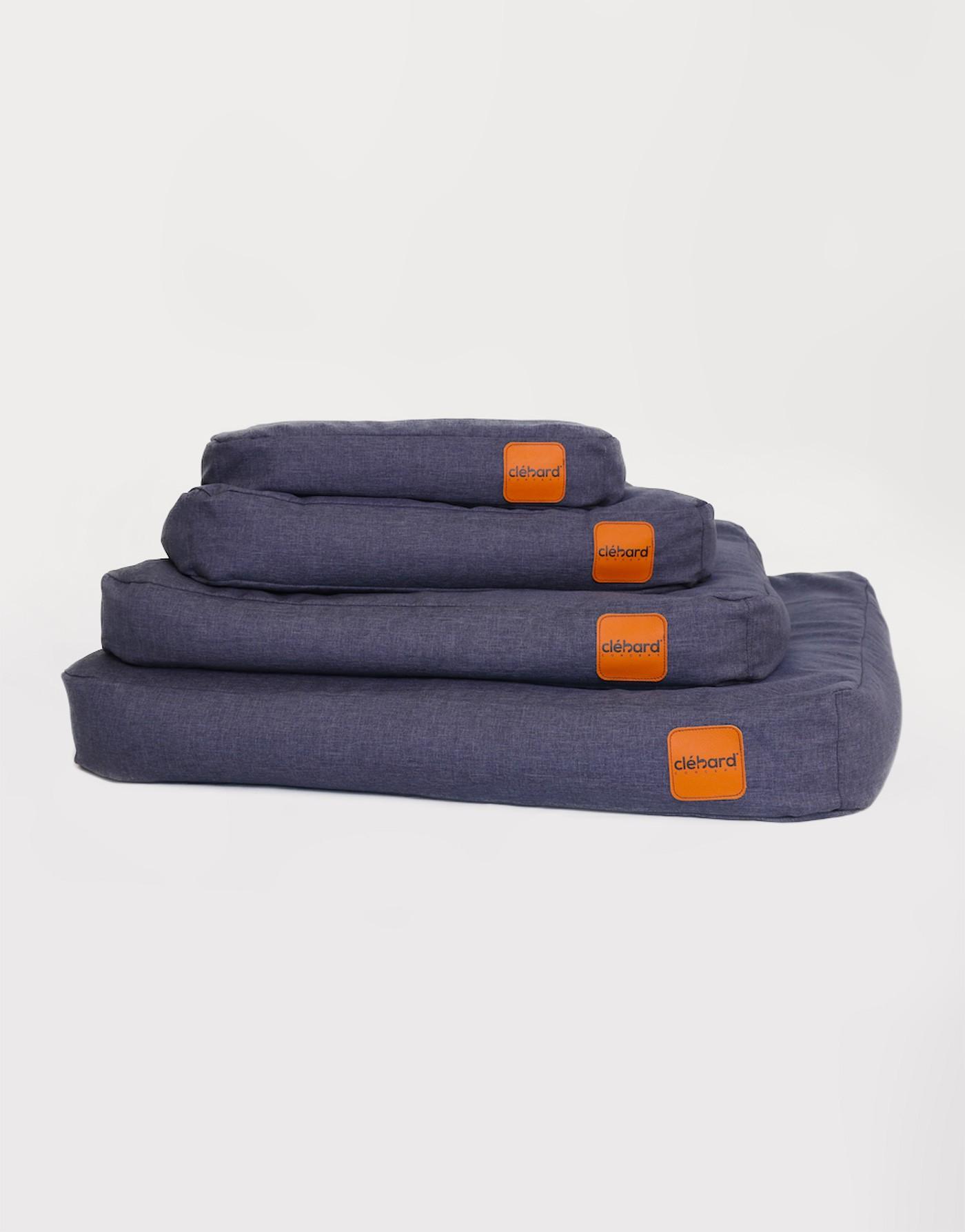 Elegant Dog's Cushion - Linen - Dark Jeans